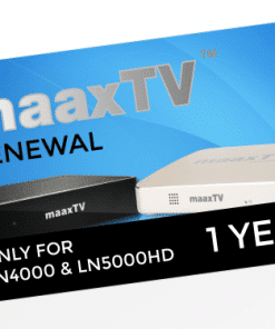 MAAXTV LN4000/5000 - 1 Year Renewal Card / PIN