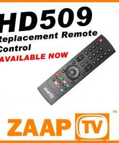 ZAAPTV HD509 Remote Control