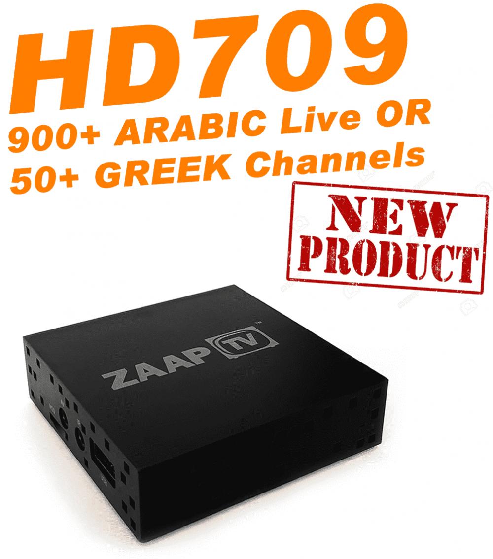 ZAAPTV HD709 - New 2018 Model