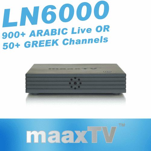 GlobeTV.com.au - MAAXTV LN6000 with 3 Years ARABIC or GREEK