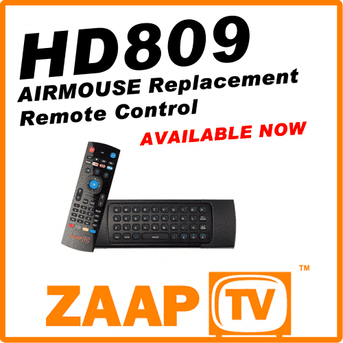 ZAAPTV HD809 Airmouse Remote Control