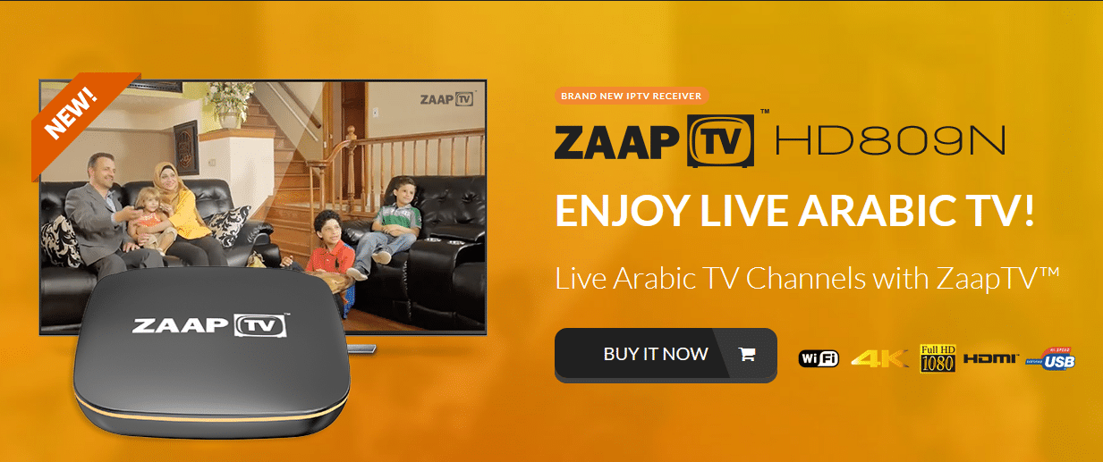 ZAAPTV HD809 with 2 Years ARABIC or GREEK